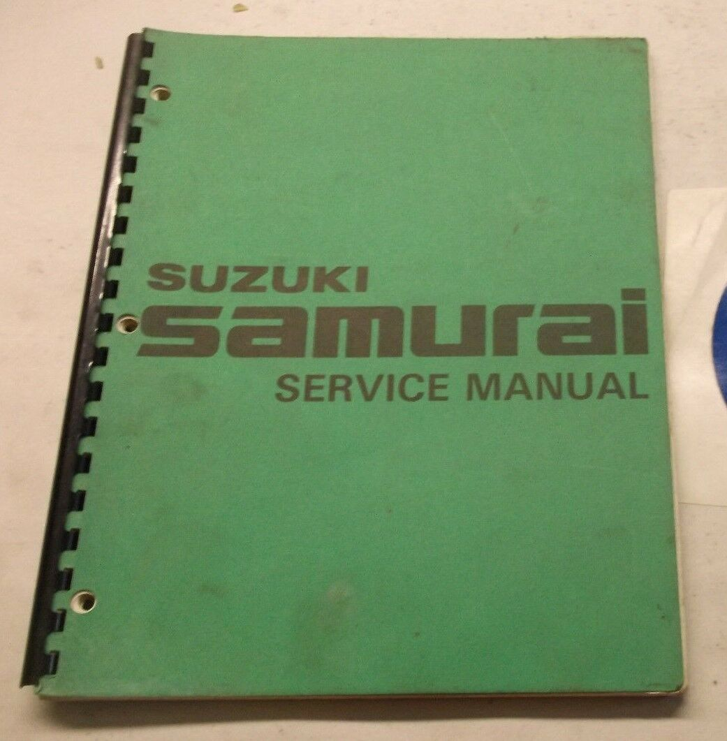 Suzuki Samurai Service Shop Repair Manual 1 of 2Only 1 available ...