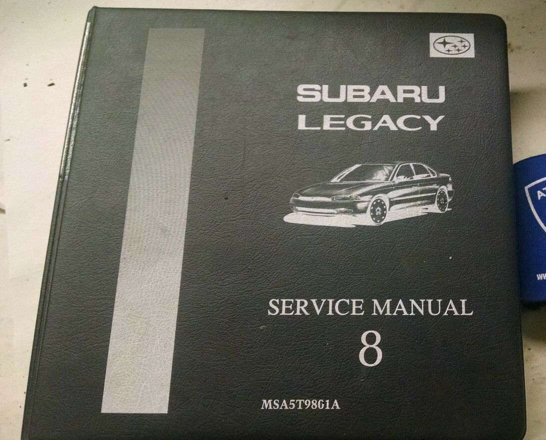 1998 Subaru Legacy Service Shop Manual Volume 8 Msa5T9801A 1 of 1Only 1  available ...
