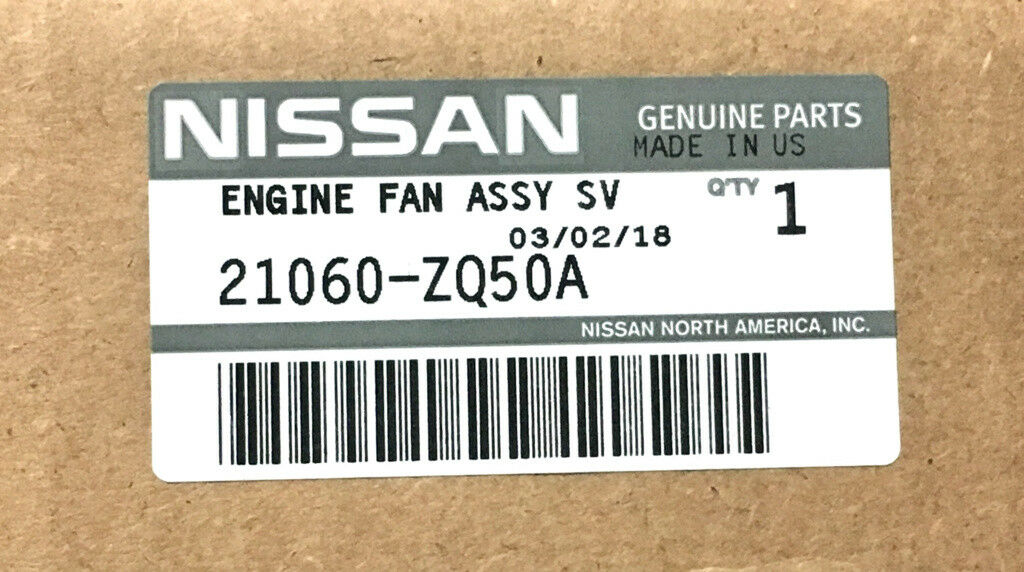 Nissan Oem 21060zq50a Engine Cooling Fan Clutch Blade 21060 Zq50a Diagram 1 Of 2only Available