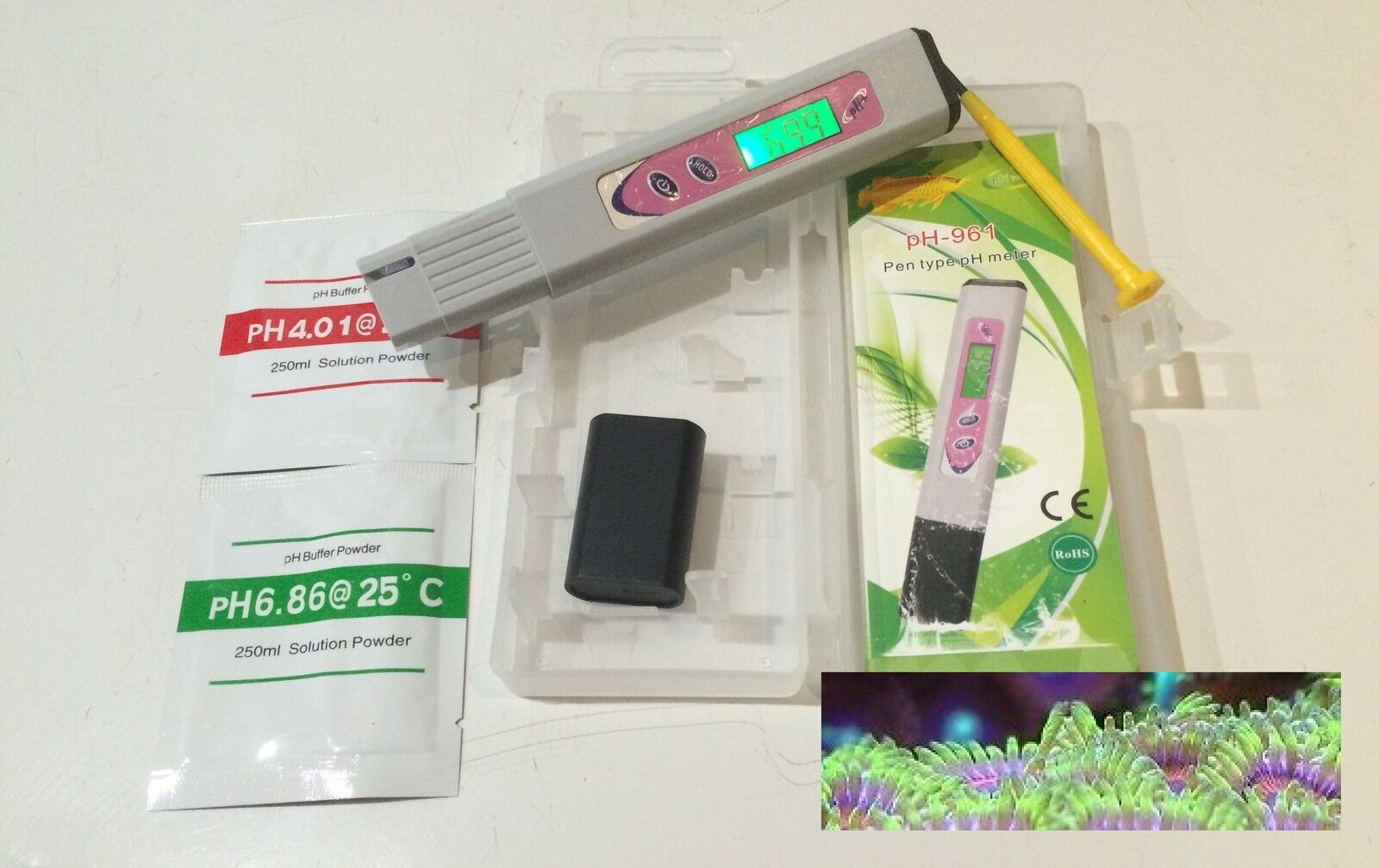 Premium pH Test Meter Hand Held Tropical Marine Aquarium pH Test Kit Monitor