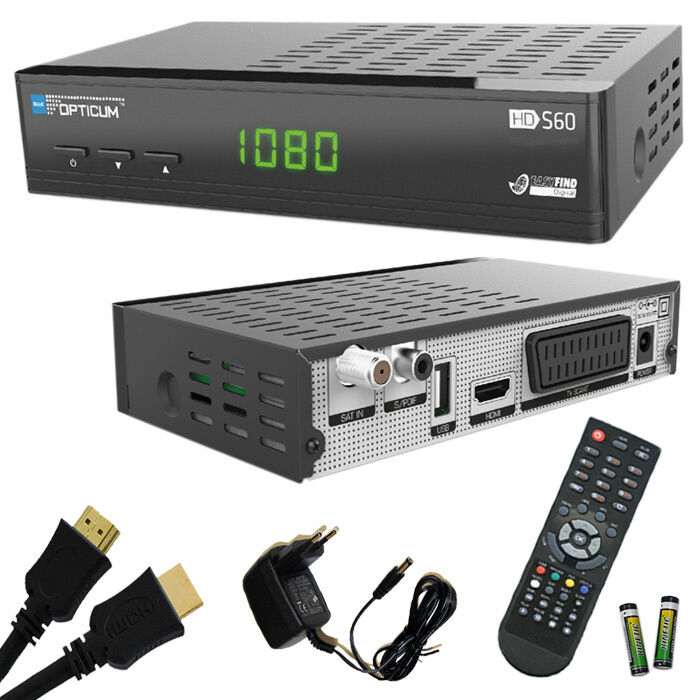 opticum s60 hd sat receiver hdmi kabel pvr scart full hd usb aufnahme 1080p eur 39 90. Black Bedroom Furniture Sets. Home Design Ideas