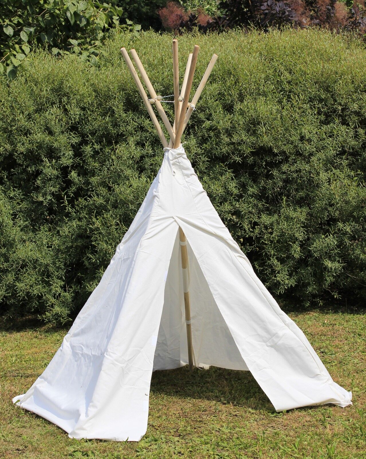 kinder tipi wigwam kinderzelt indianer zelt mit holz stangen 110 069 eur 89 00 picclick de. Black Bedroom Furniture Sets. Home Design Ideas
