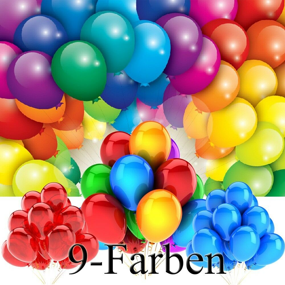 luftballons 25 cm 9 farben 50 100 200 500 st ckzahl ballons helium luftballon eur 3 59. Black Bedroom Furniture Sets. Home Design Ideas