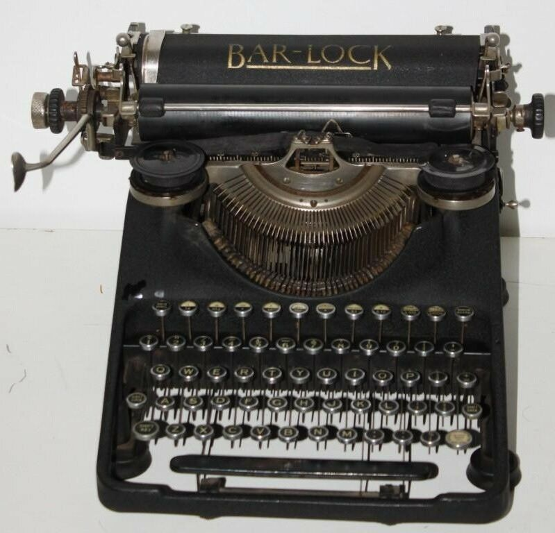 1929 Vintage British BAR-LOCK Model 18 Typewriter - Working [PL1008]