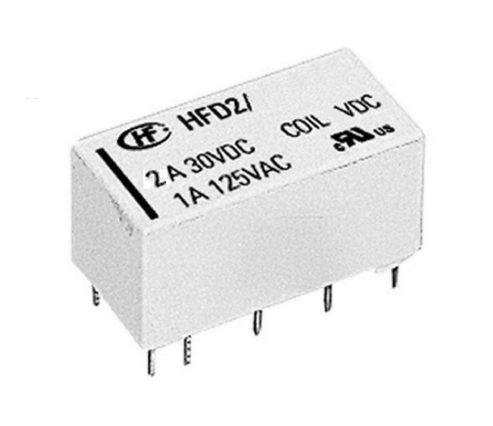 Bistable Latching Relay Dpdt 2 Coil 12v 2a Hongfa Fast Circuitry Delivery