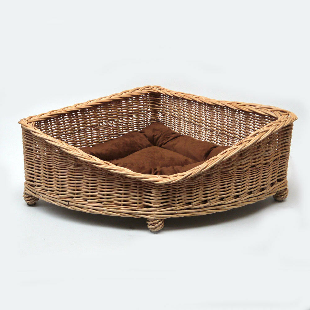 Luxury Medioum Size Wicker Pet Bed Basket EXPRESS DELIVERY