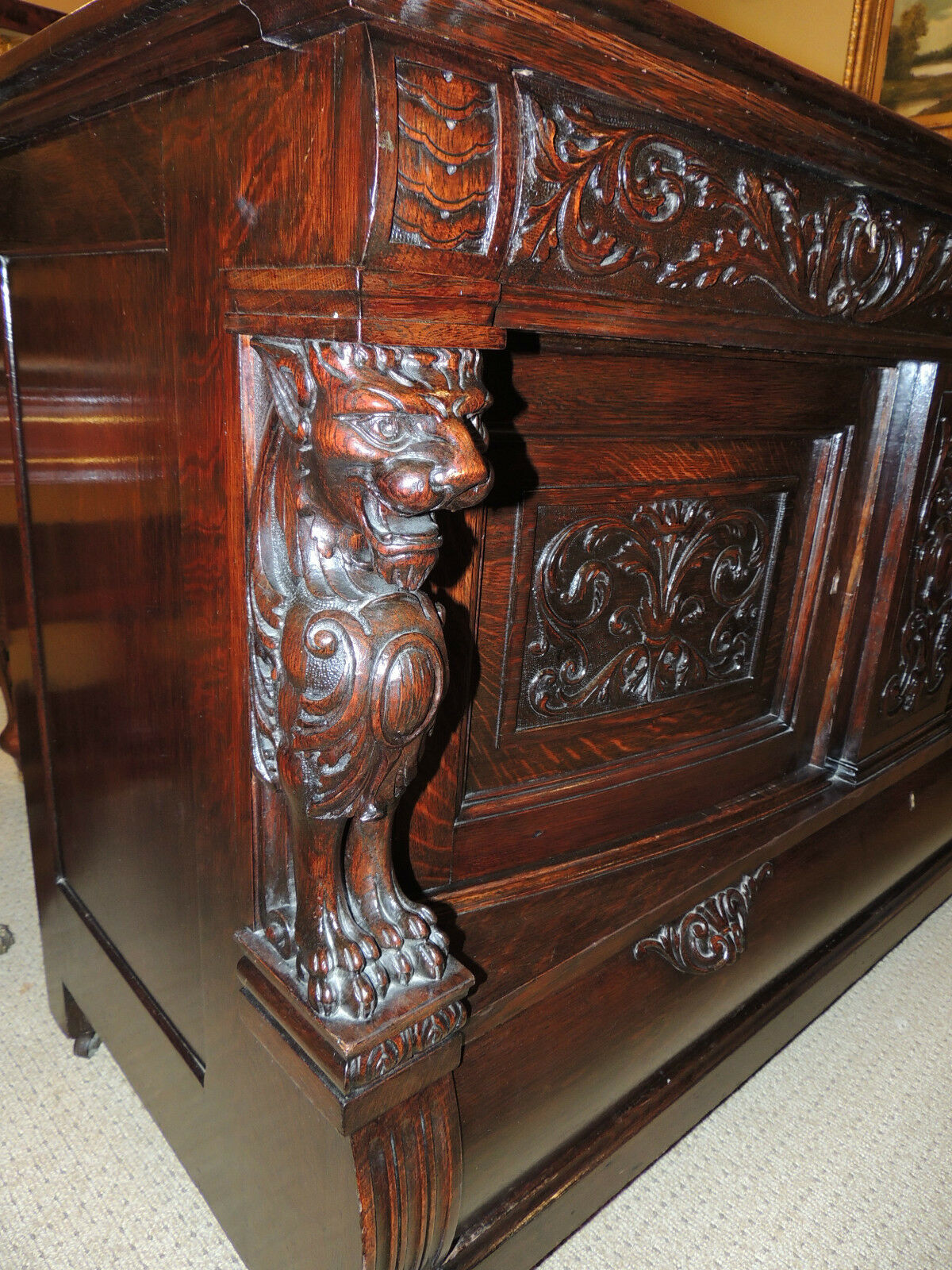 fabulous 19th century oak server carved dark oak sideboard china cabinet hutch buffet china cabinet hutch buffet