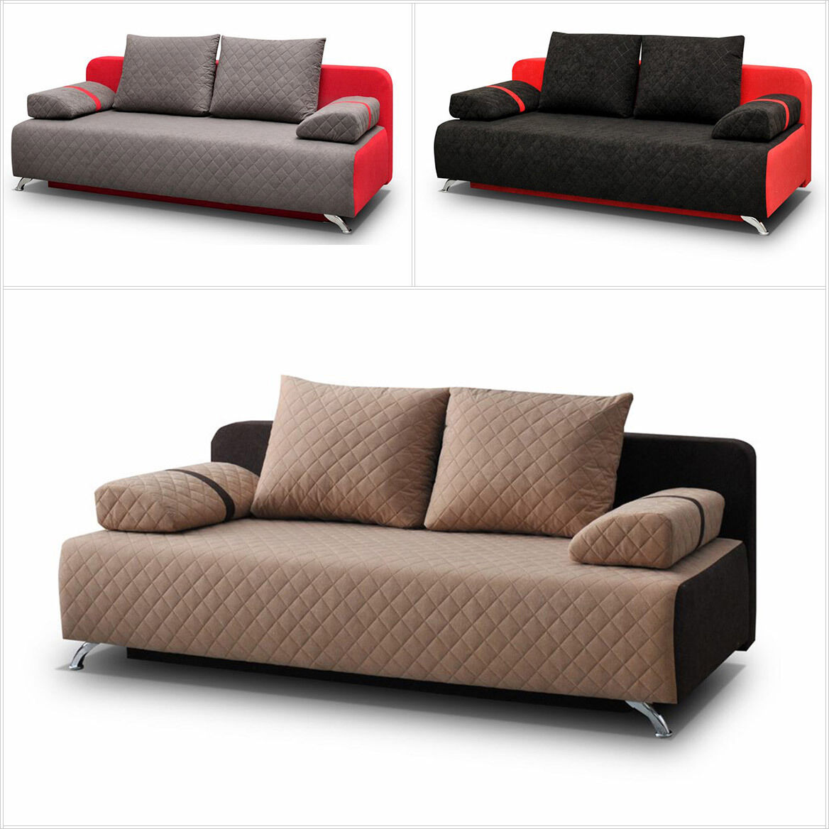 Schlafsofa manhattan sofa schlaffunktion bettkasten for Couch schlaffunktion bettkasten