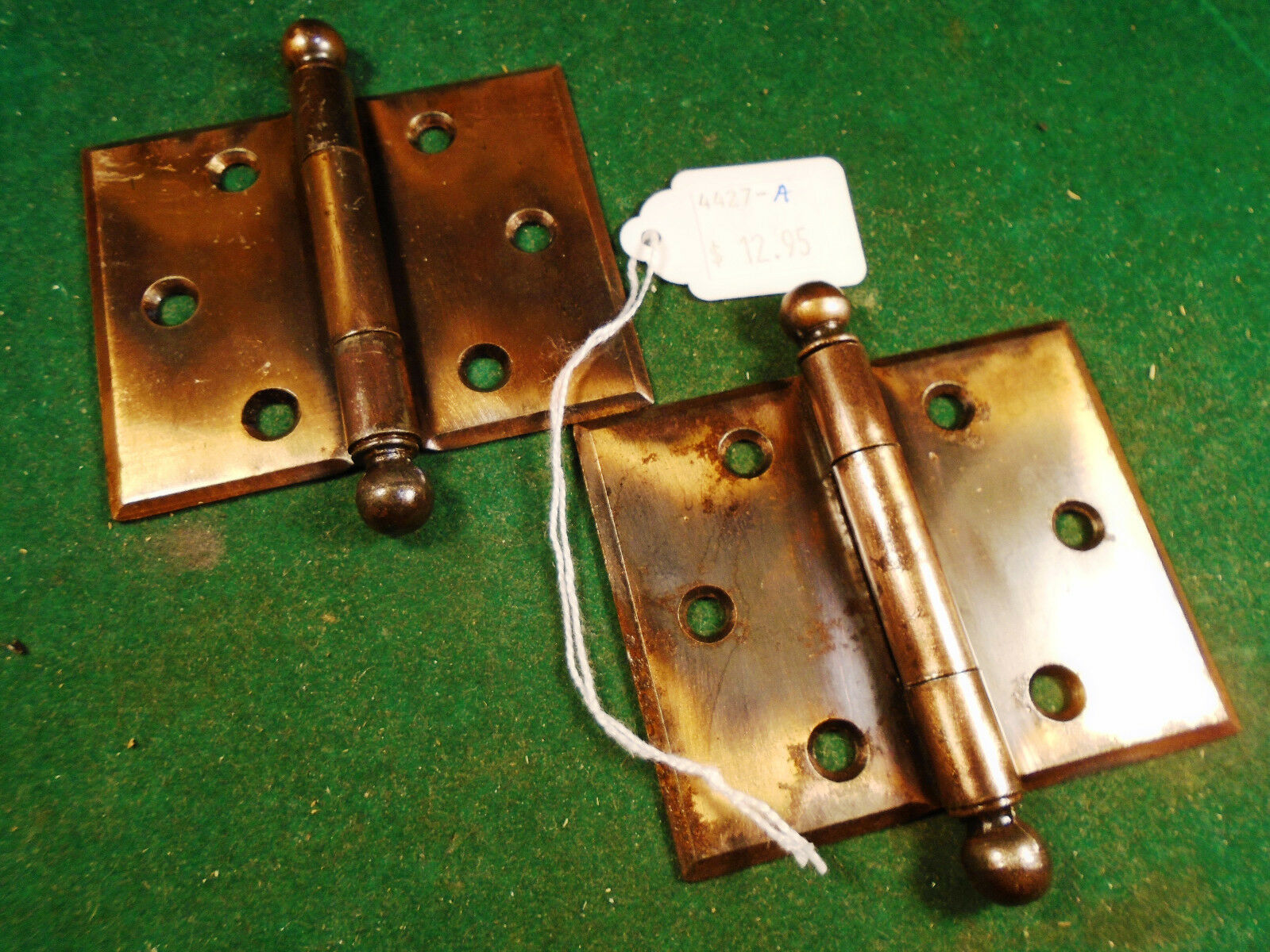 New Old Stock 2.5 X 2.5 Japanned Cannon Ball Hinges!!!   One Pair (4427-A)