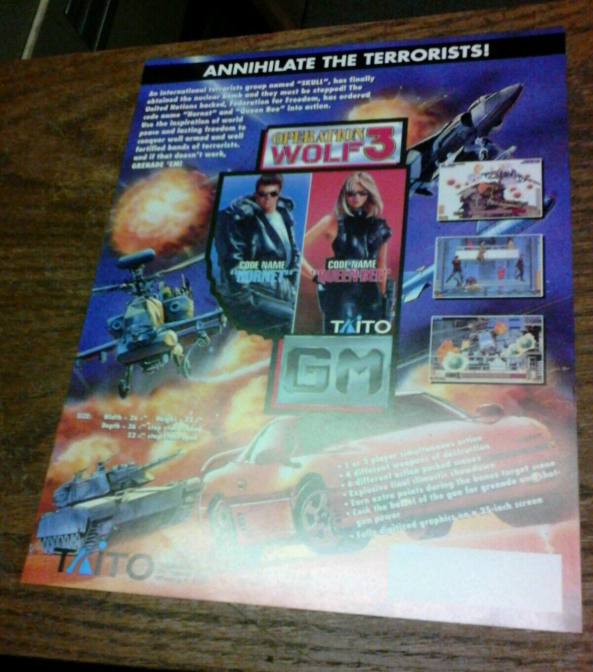 Taito OPERATION WOLF 3 Arcade Video Game flyer wiring diagram apsma wiring diagram massey ferguson 240 \u2022 45 63 74 91  at creativeand.co