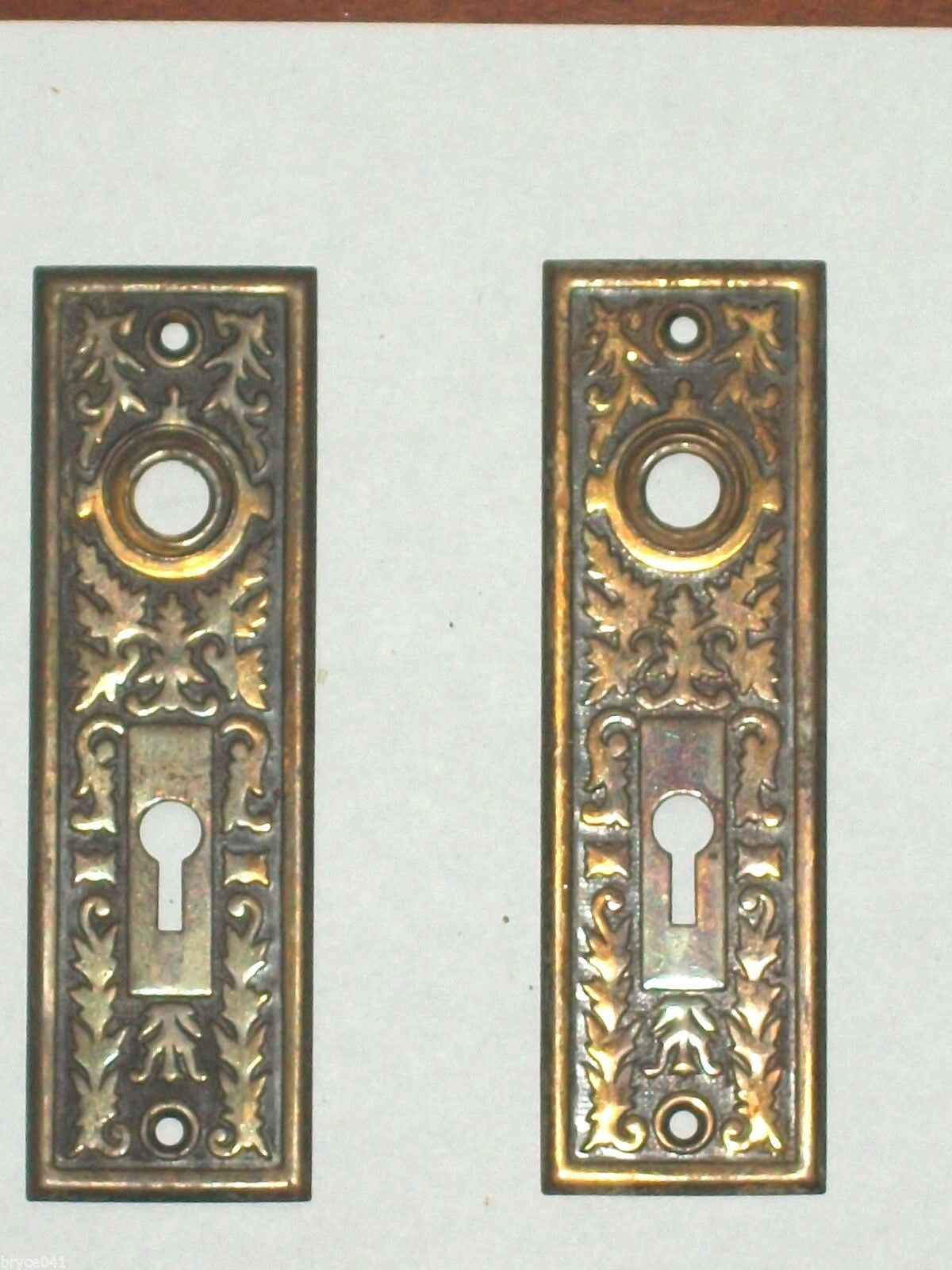 Antique Victorian Era Door Knob Back Plates