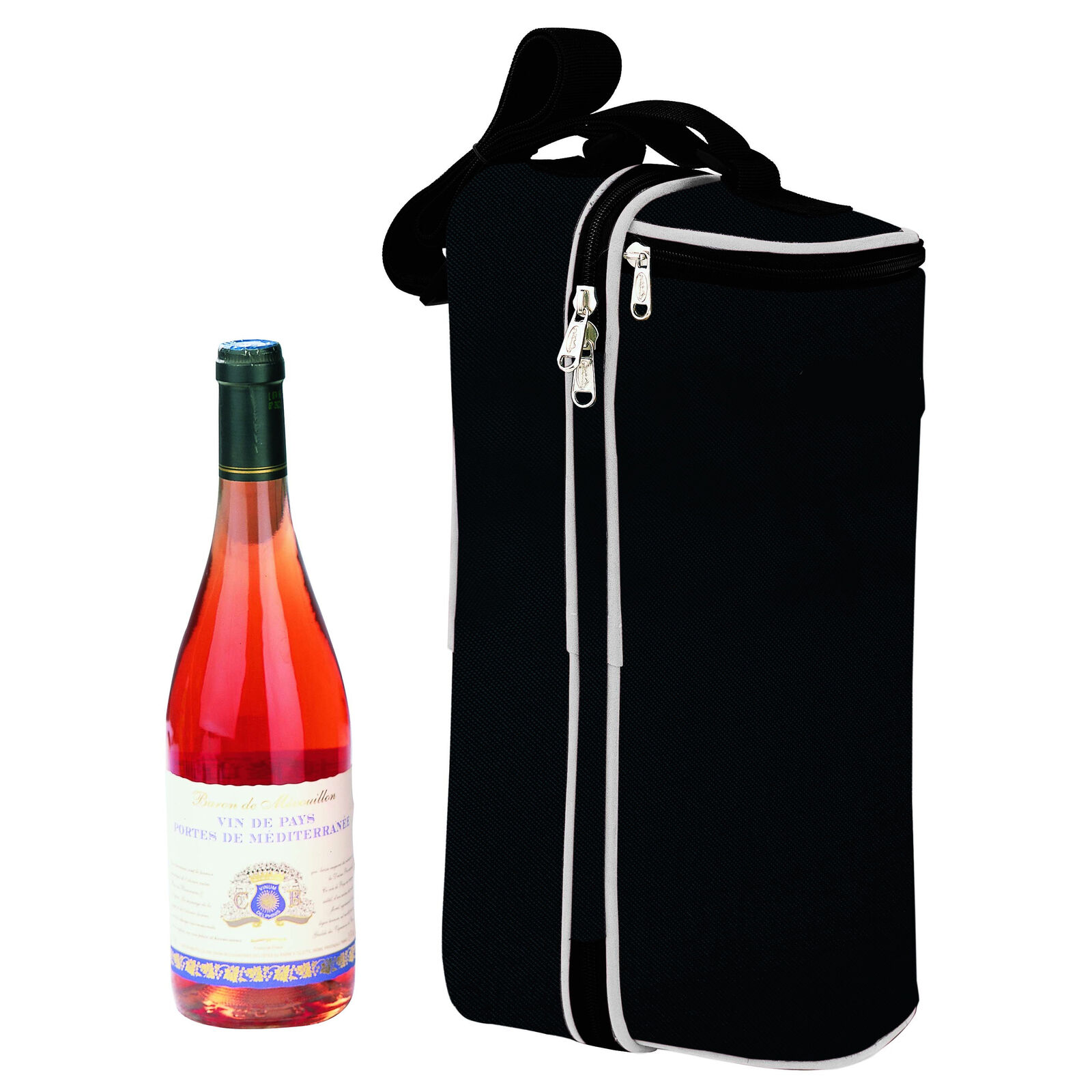 Delux Wine pack for 2 persons | Insulated | all accessories included | Black