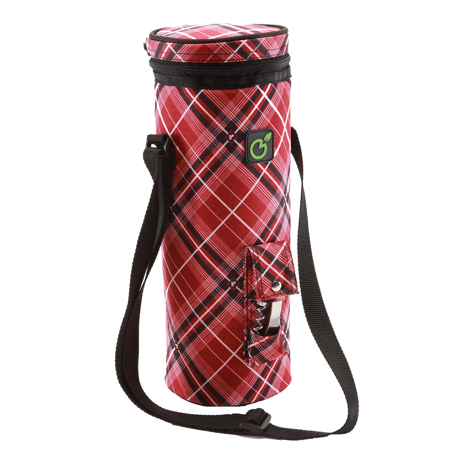 Single Bottle Insulated Wine BYO | Oversized | To fit a magnum | Red Tartan