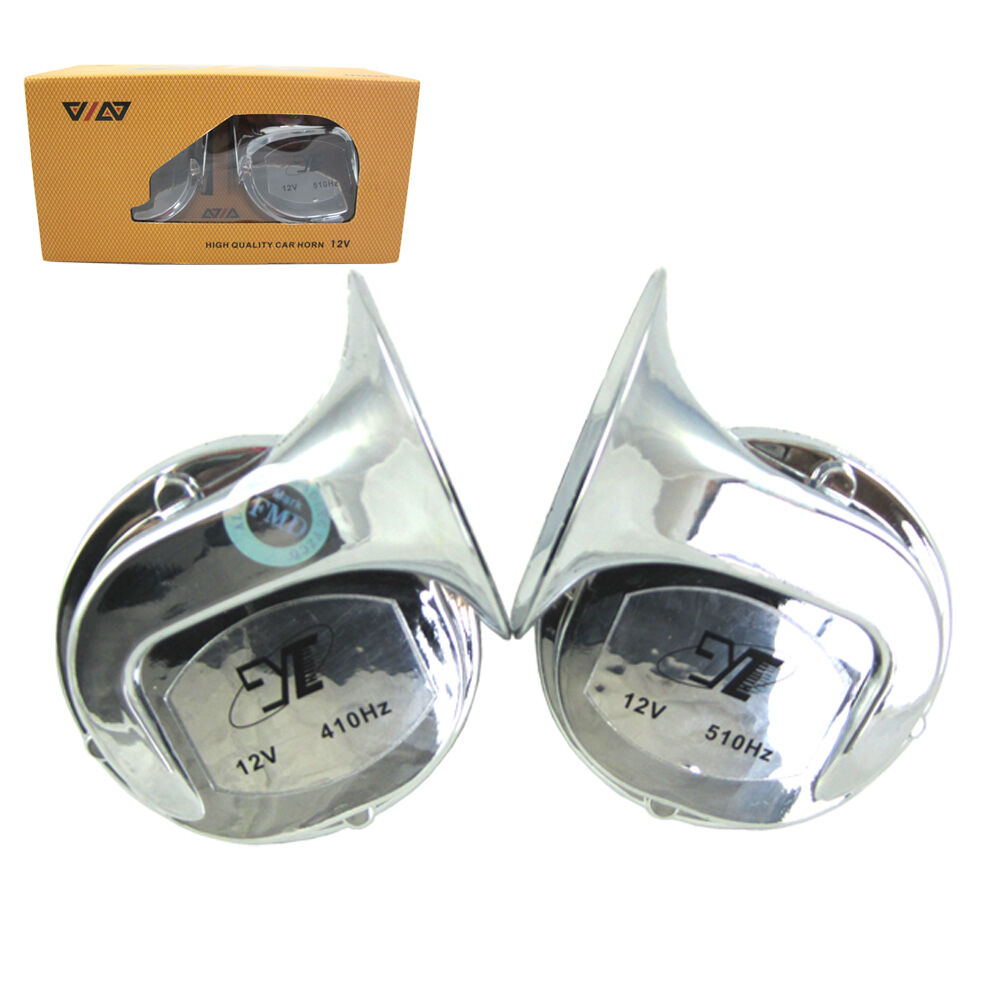 Chrome 12v High Quality Snail Horn For Car Motorcycle Double Bmw 325i Location 1 Of 6free Shipping