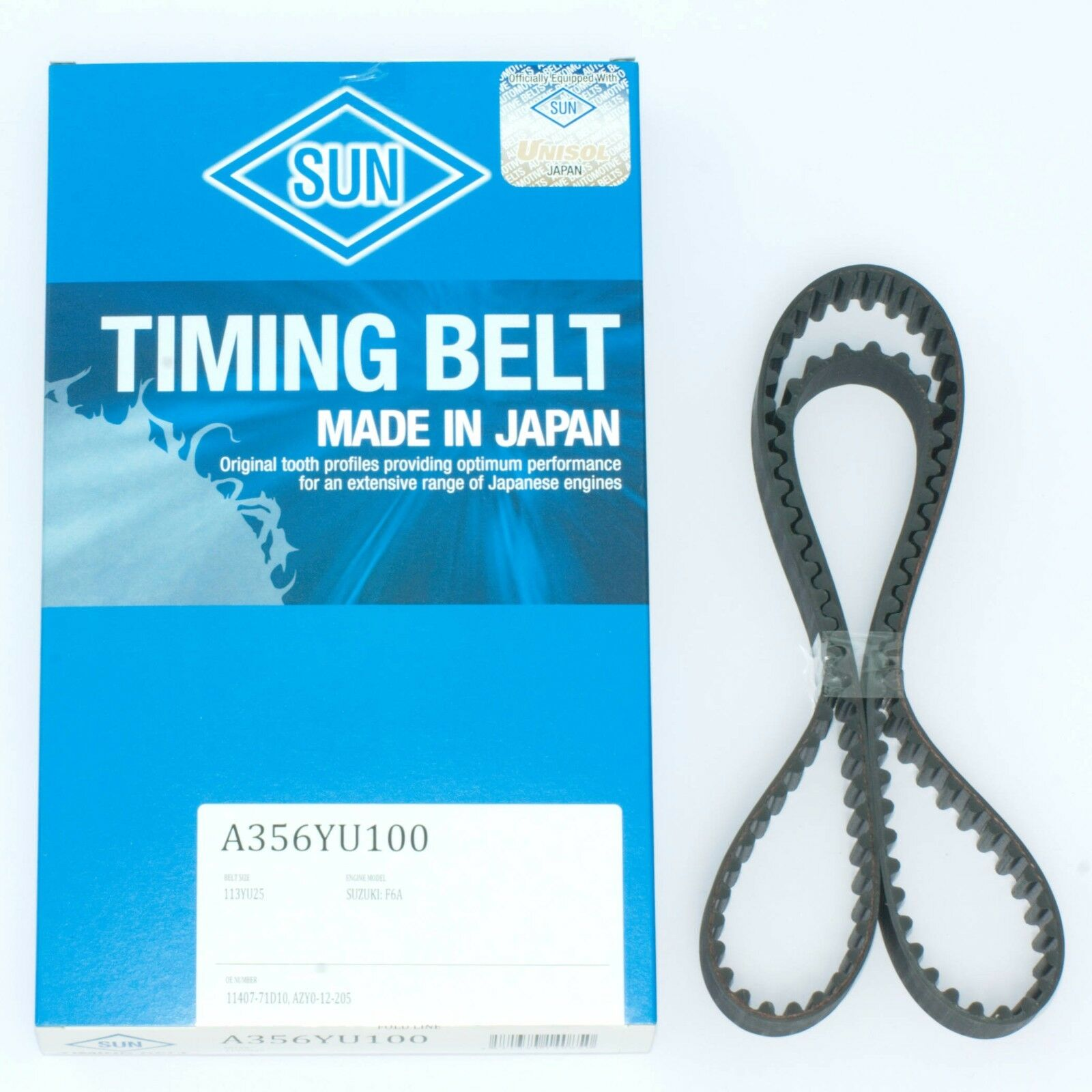 Sun Timing Belt Fits Suzuki Carry Every Alto Db51t Dd51t F6a Non Infiniti 1 Of 1only 3 Available
