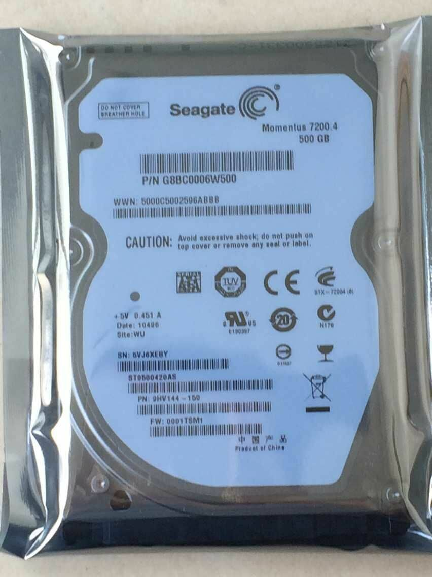 Seagate Momentus 72004 500GB 7200 RPM 25 ST9500420AS Laptop Hard Disk Drive 1 Of 3FREE Shipping