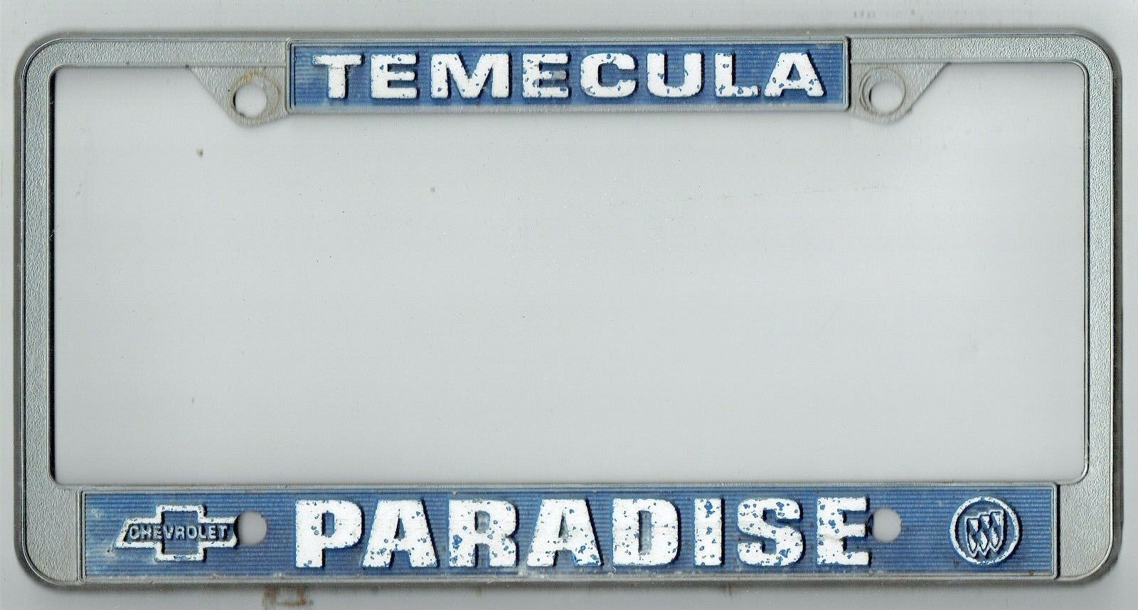 TEMECULA CALIFORNIA PARADISE Chevrolet Buick Vintage Dealer License ...