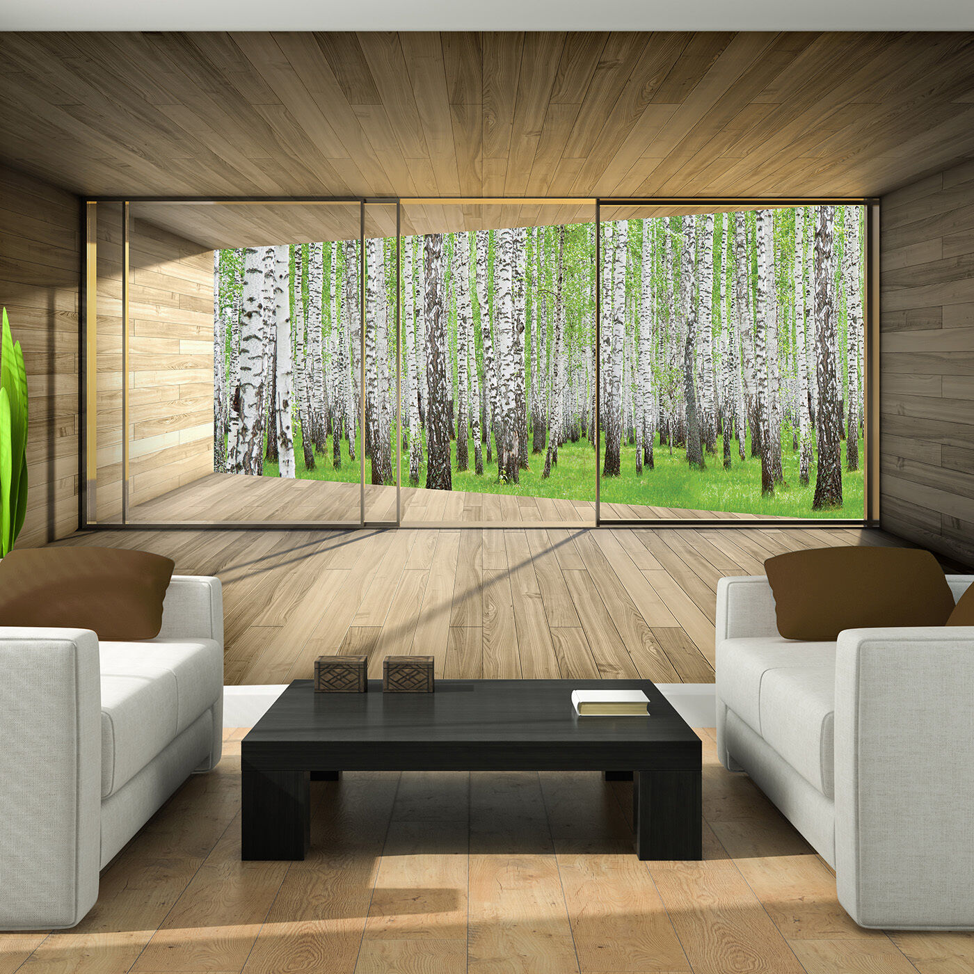 foto poster wandbild tapeten tapete gr n wald natur birke pflanzen 3fx3304p8 eur 39 90. Black Bedroom Furniture Sets. Home Design Ideas