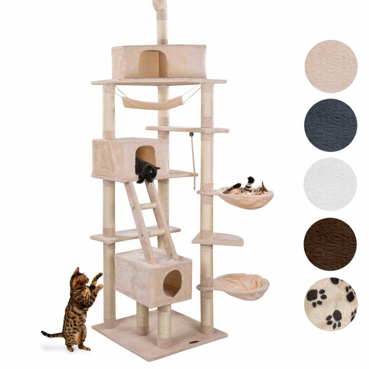 kratzbaum katzenkratzbaum deckenhoch katzenspielplatz sisal katzen kletterbaum eur 69 99. Black Bedroom Furniture Sets. Home Design Ideas