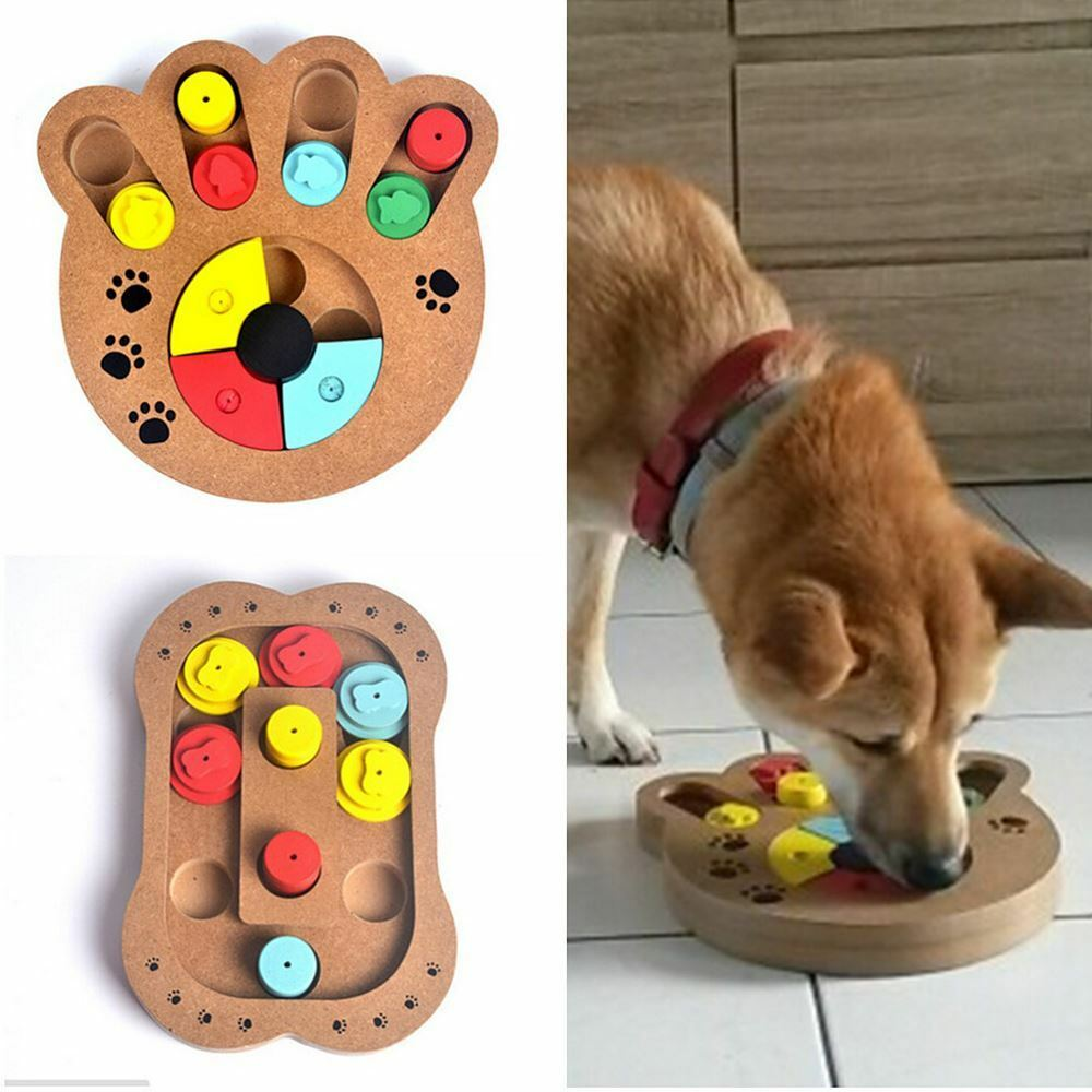 Pet Puppy Interactive Treat Food Hiding Puzzle IQ Training Toy