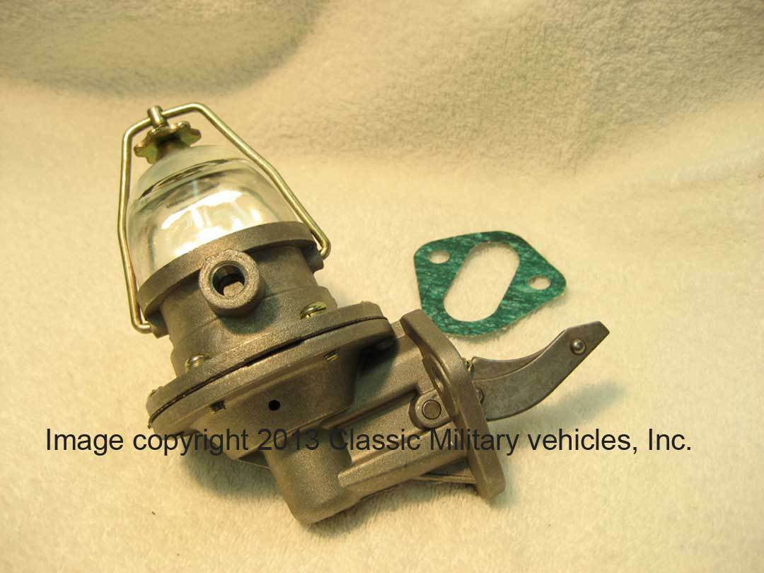 Willys Fuel Pump Cj2a Cj3a Mb Ford Gpw With Glass Bowl Jeep L134 1 Of See More