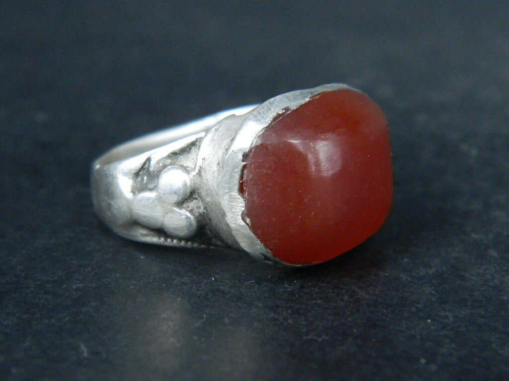 Antique Silver Ring With Stone 1900 AD  #STC270