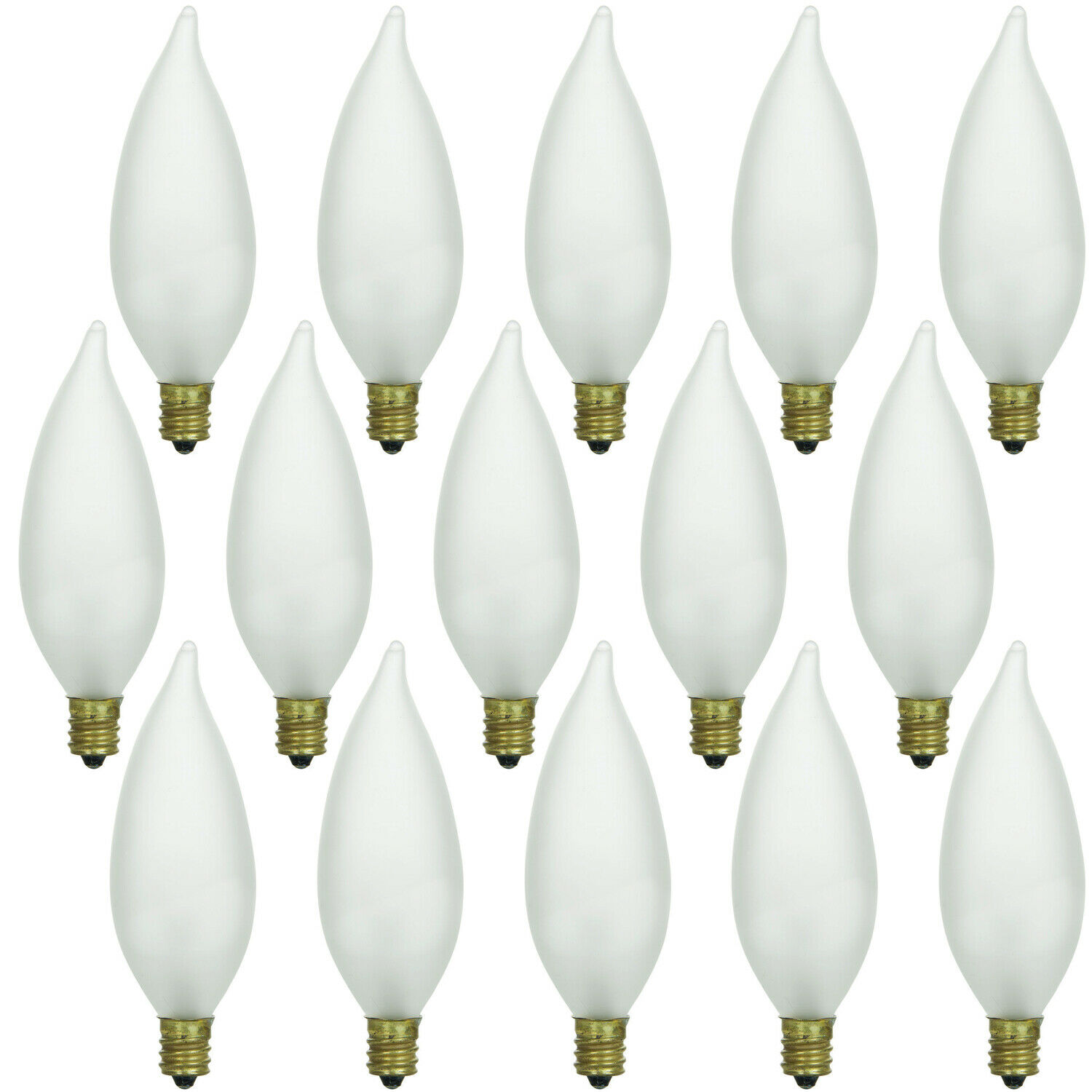 15 Pack 40w Frosted Flame Tip Chandelier Light Bulbs E12 Candelabra Base Er 1 Of 1free See More