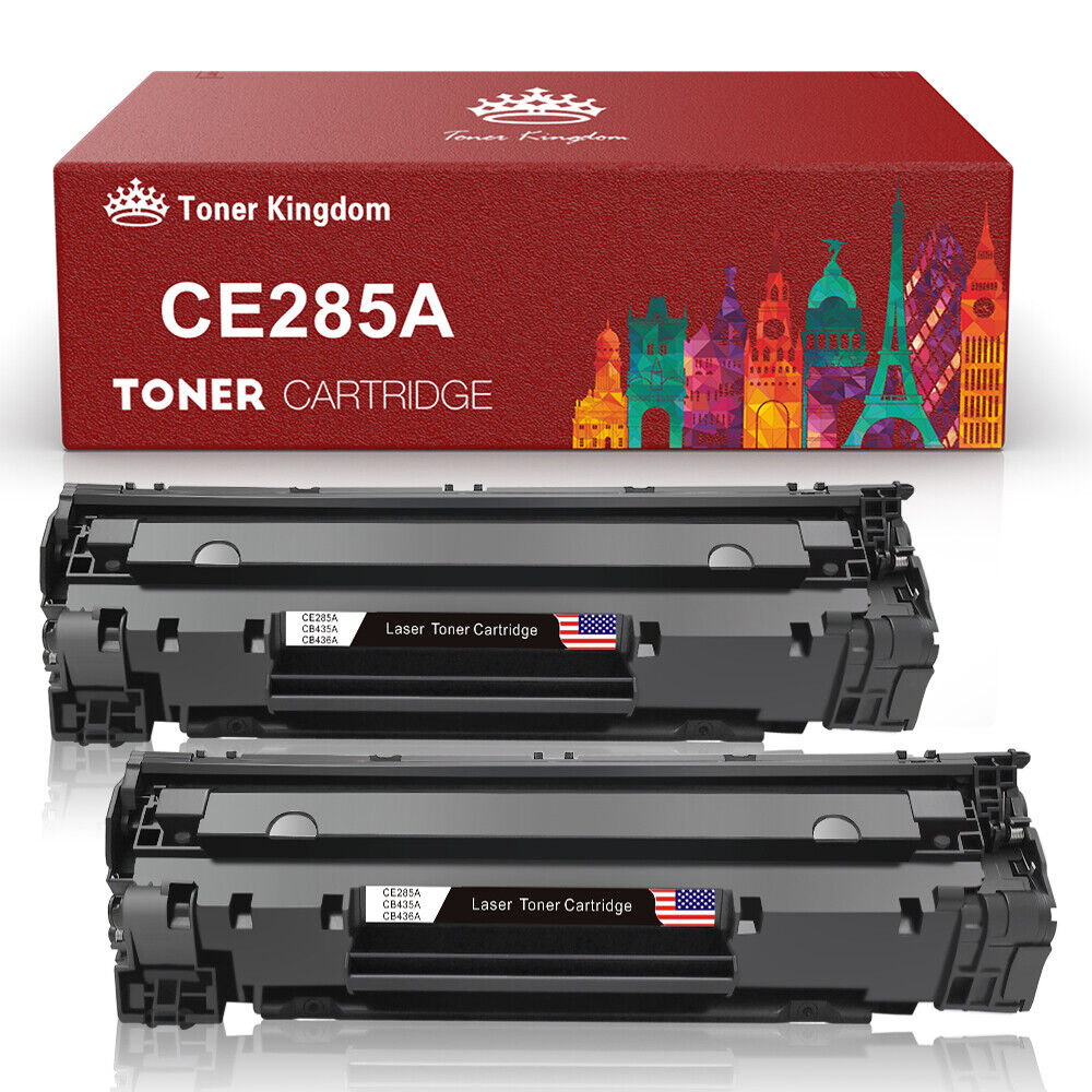 2pk Premium Cb436a 36a Toner Cartridge For Laserjet P1102 P1102w Compatible Printer Ce285a 85a M1212nf 1 Of 8free Shipping See More
