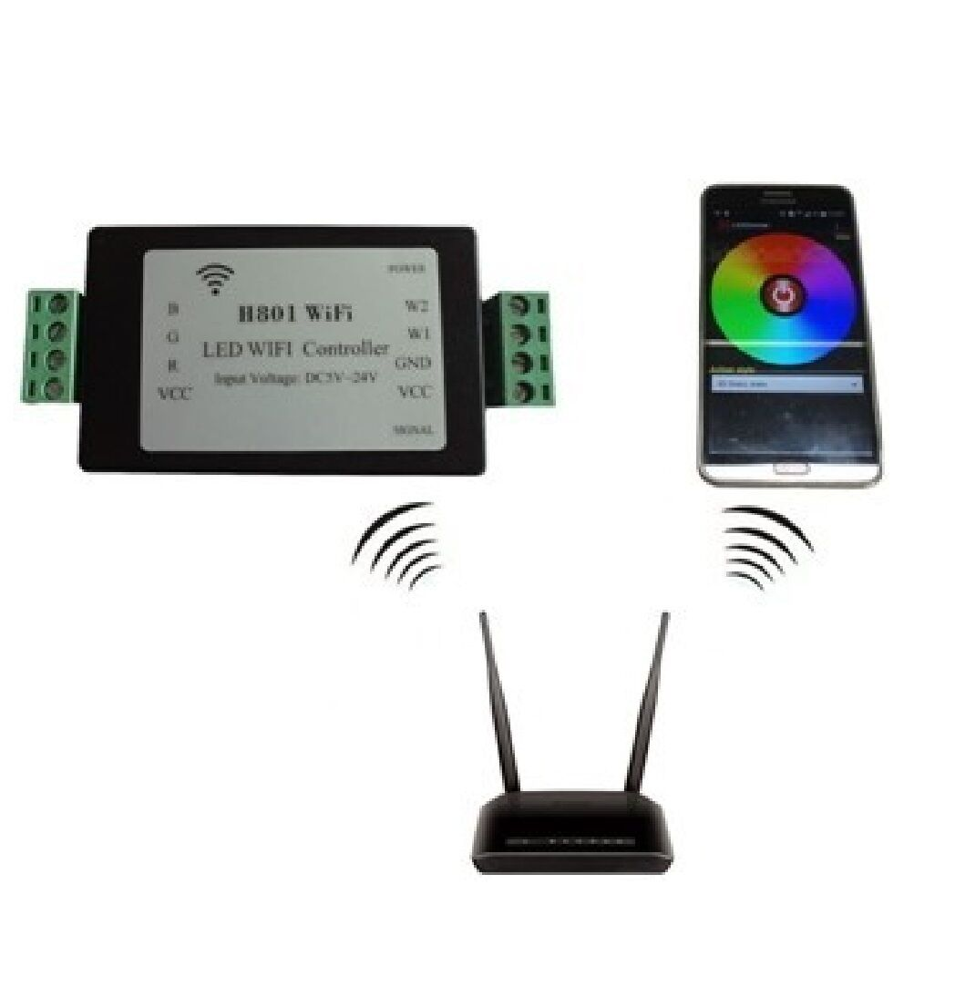 Tropical Marine Aquarium WiFi LED Controller 5 Output DC 5-24v Android Control