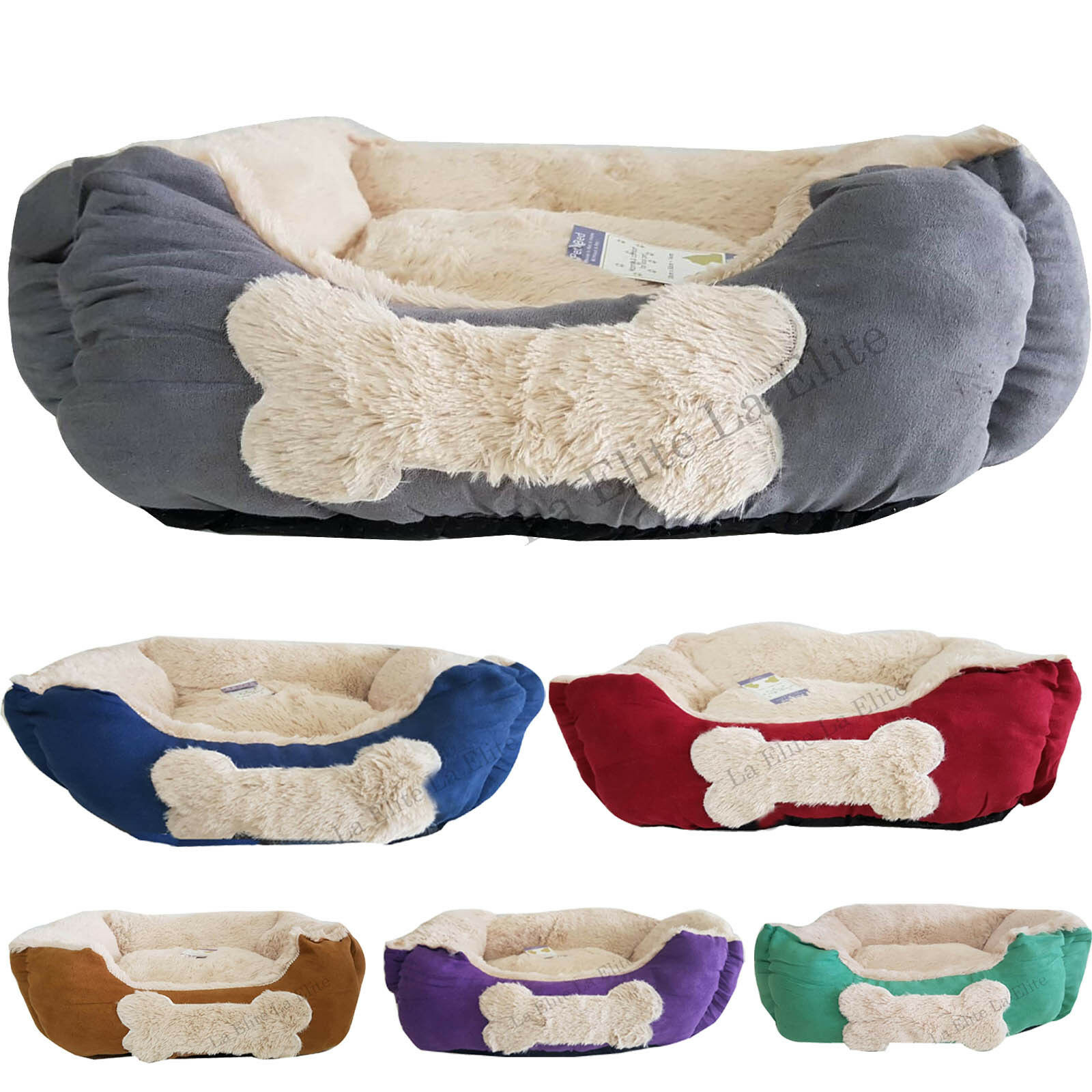 Dogs Bed Large Small Cat Sofa Pet Basket Cushion Fleece Kitten Puppy Warm Mat