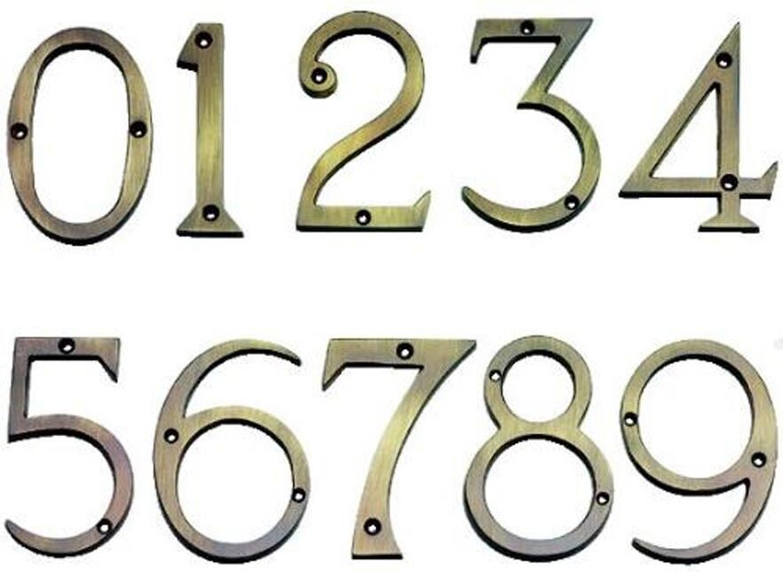 Solid Antique Brass 75mm Polished House Front Door Numbers 1 of 1FREE  Shipping ... - SOLID ANTIQUE BRASS 75mm Polished House Front Door Numbers - £6.95