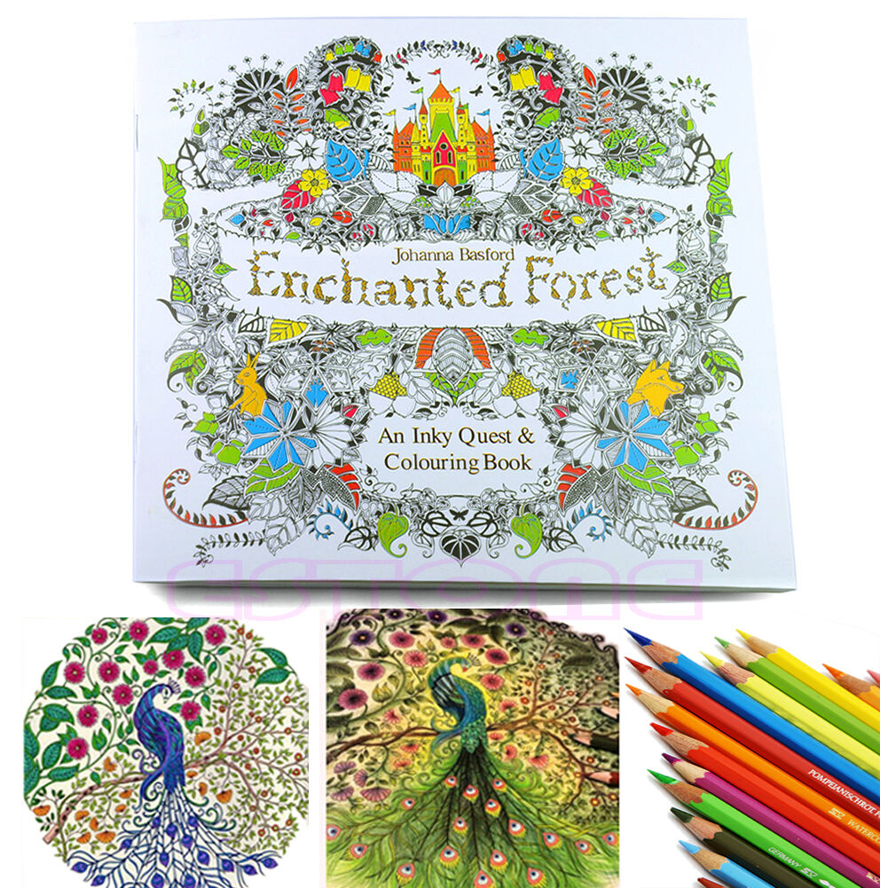 ENCHANTED FOREST AN Inky Treasure Hunt And Coloring Book