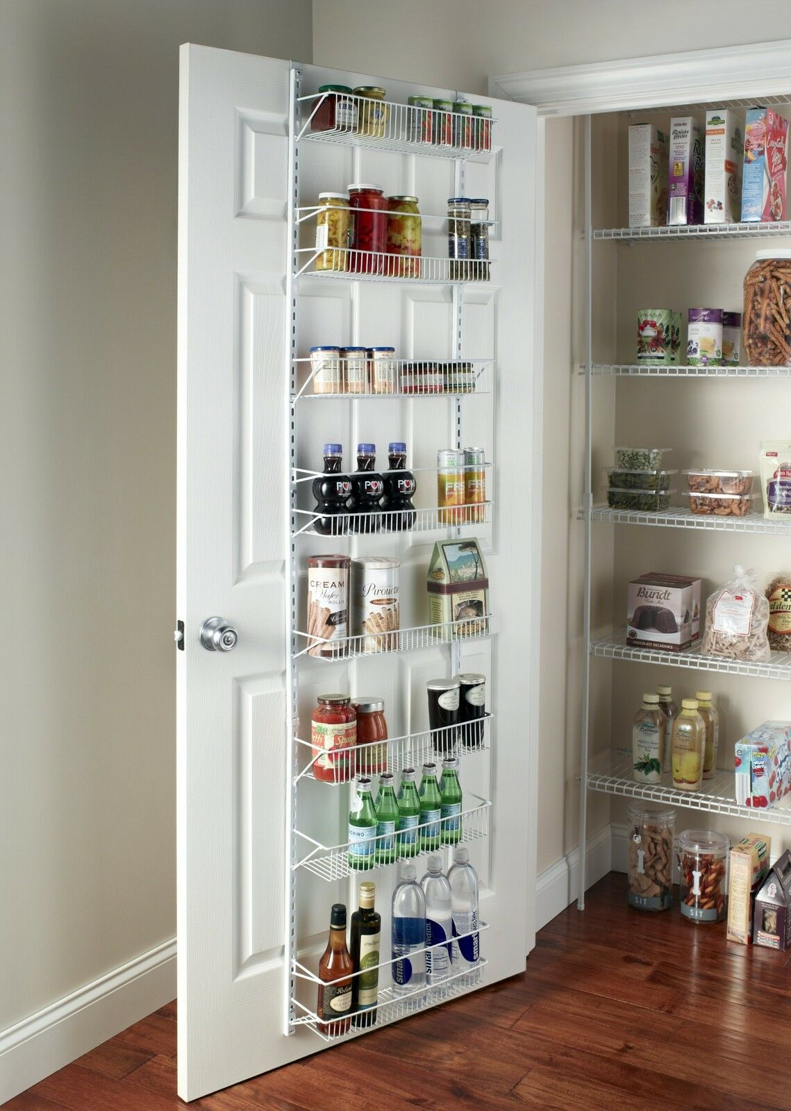 ADJUSTABLE OVER the Door Storage Rack 8 Shelves Kitchen