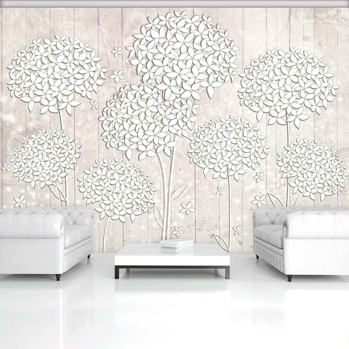 bild poster wandbild tapeten foto weiss blumen pusteblume creme holz 3fx3502p8 eur 39 90. Black Bedroom Furniture Sets. Home Design Ideas