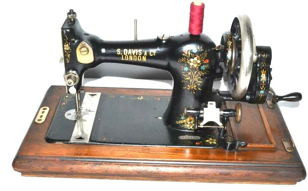 1920's S. Davis & Co Hand Crank Sewing Machine - FREE Delivery [PL2106]
