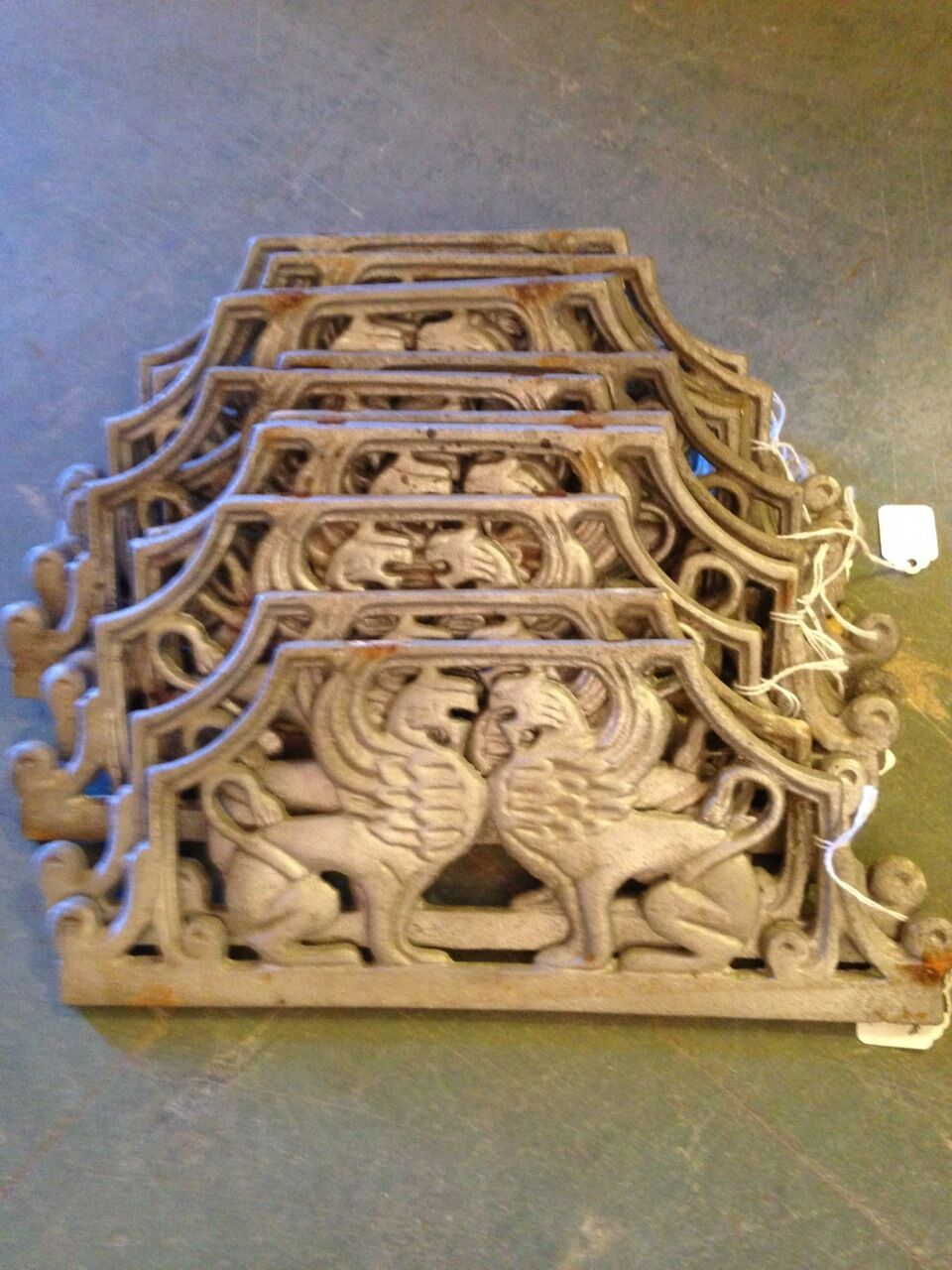 12 Aluminum Early 20th Century Architectural Decorative Trim Griffin Elements