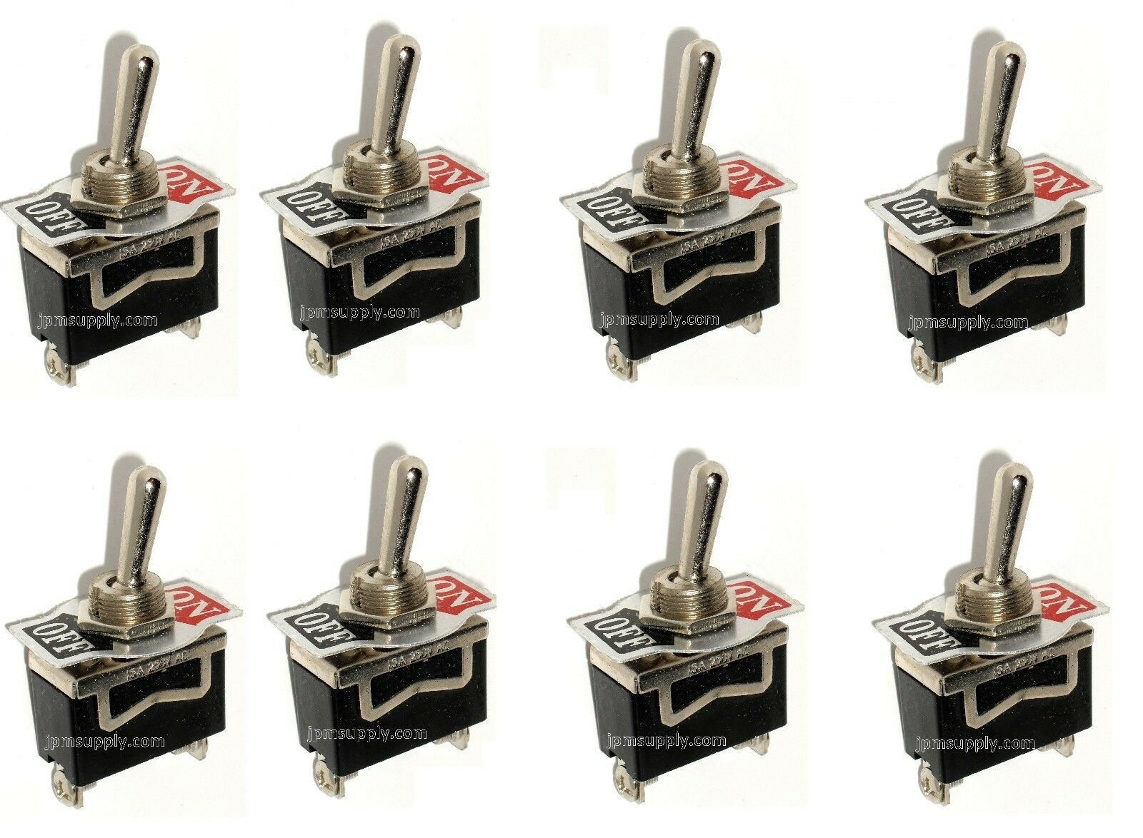 8 Spst On Off Toggle Switches 20amp 1 2 Mount 1199 Picclick Rocker Mini Switch Onoff Of 3