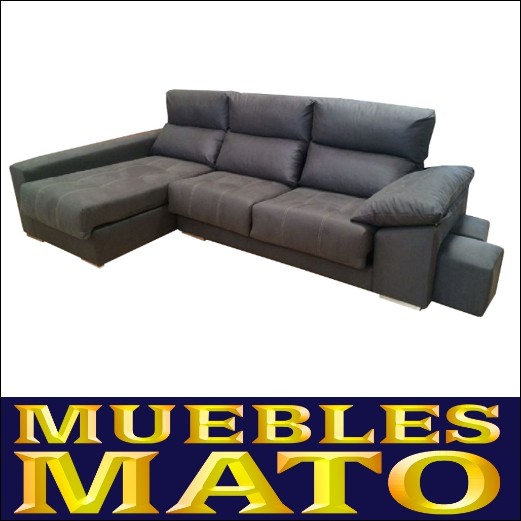 Sofa nadia chaiselongue izquierdo tela 3 plazas color gris for Muebles mato ebay