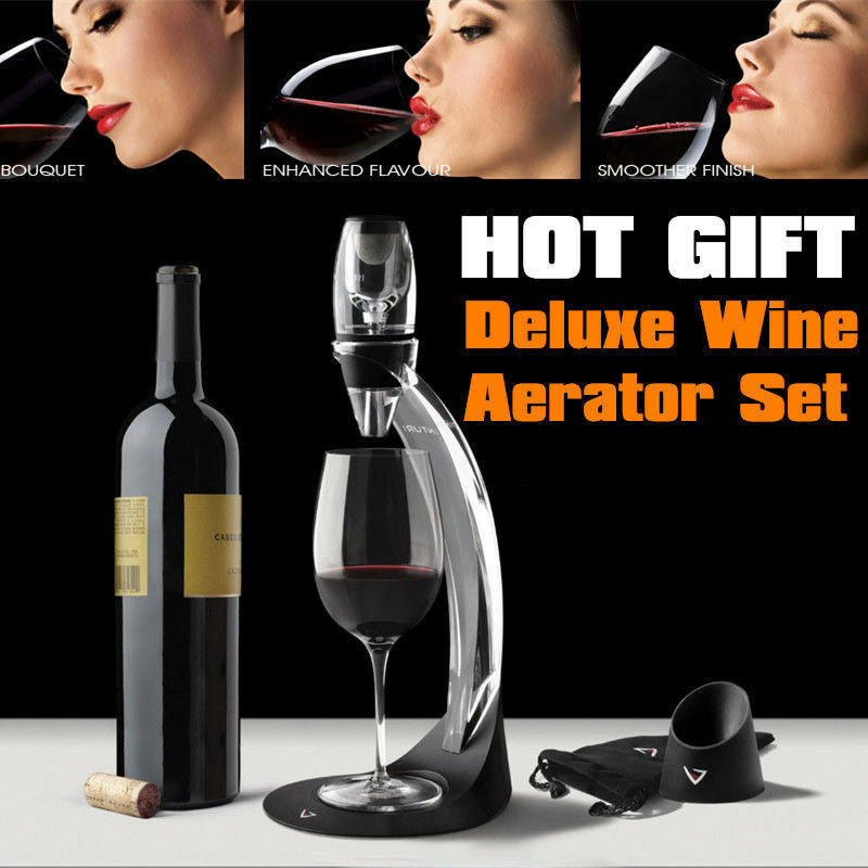 2015 - Magic Decanter Essential RED Wine Aerator Sediment Filter Drinking Lovers