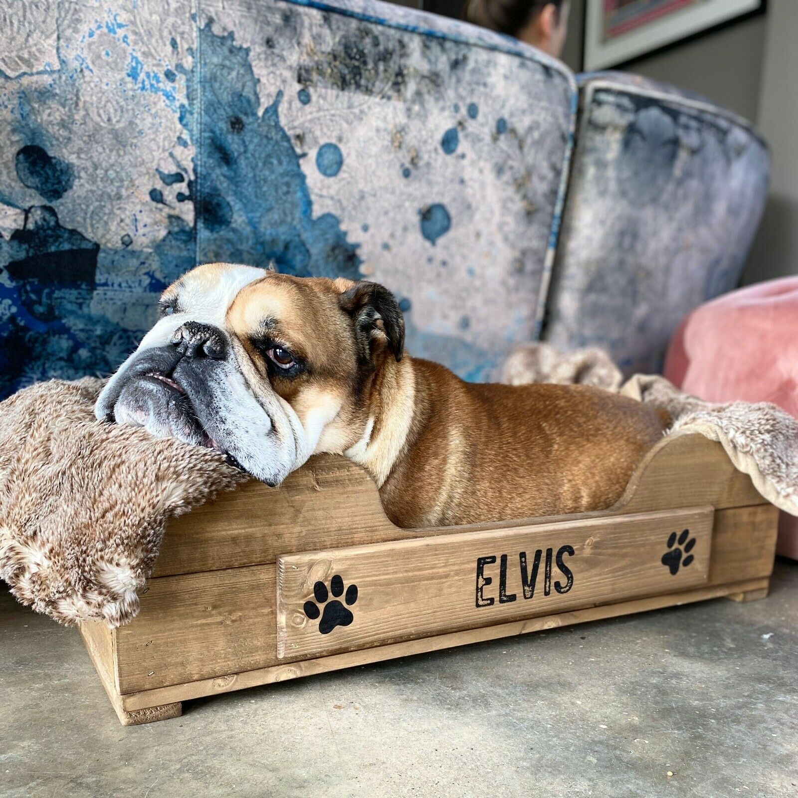 Personalised Wooden Pet Bed Crate (Small) For Cats And Or Dogs