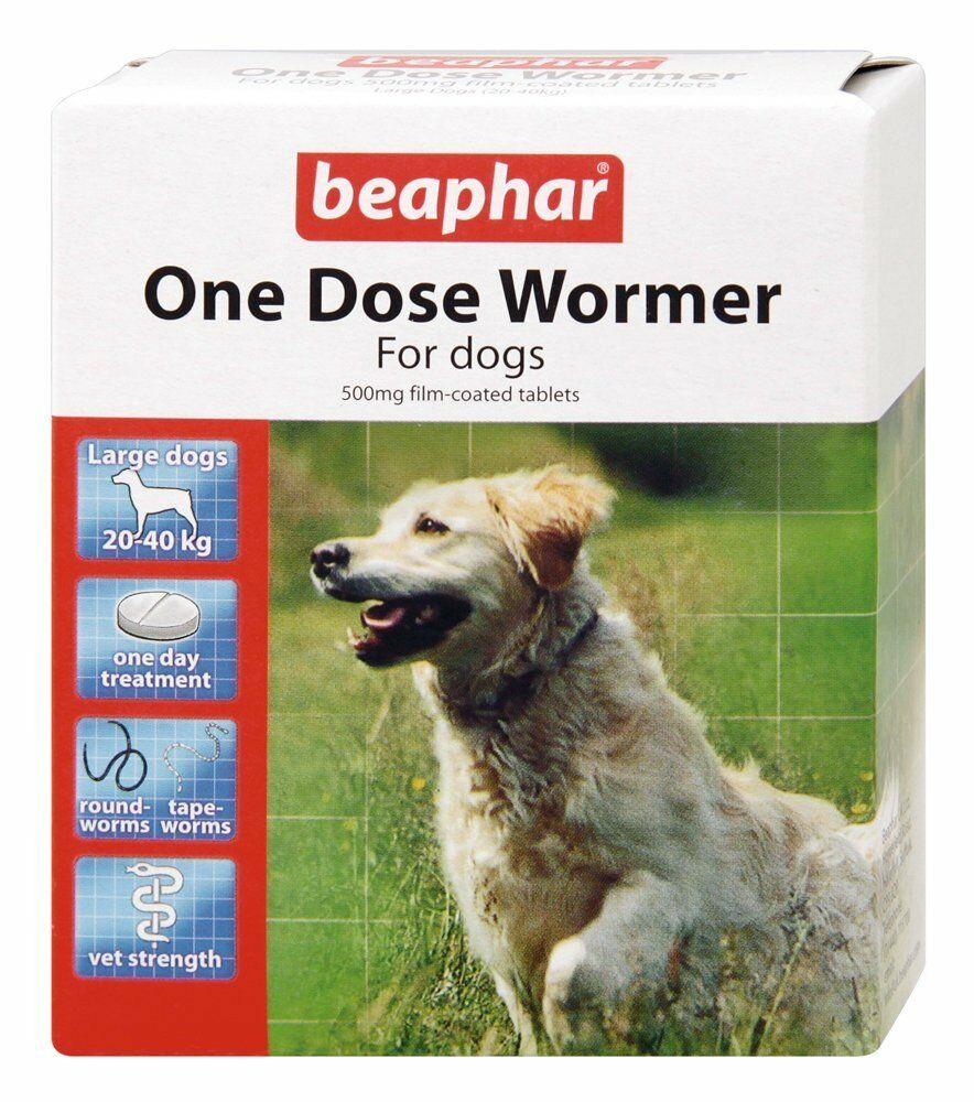 Beaphar One Dose Wormer For Large Dogs