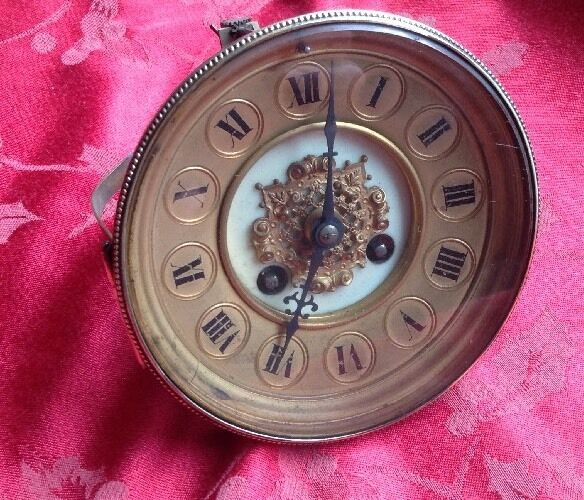 French Clock Movement With Ornate Dial Complete With Bezel Glass Etc Sp/ Rep