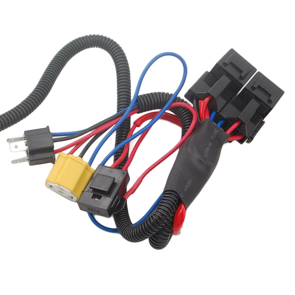 Oem H4 Headlight Relay Wiring Harness System 4 Headl Light Bulb Diagram For Led Fix Dim 2 Headlamp