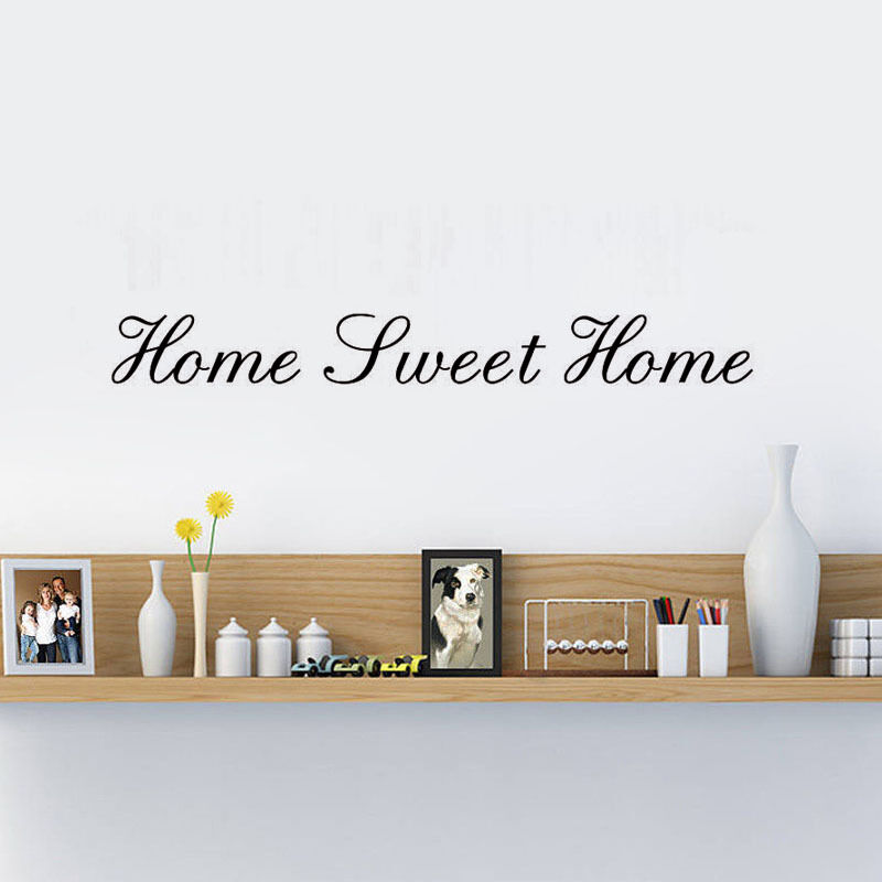 home sweet home quote wall decor vinyl wall art decal removable living room eur 8 68 picclick ie. Black Bedroom Furniture Sets. Home Design Ideas