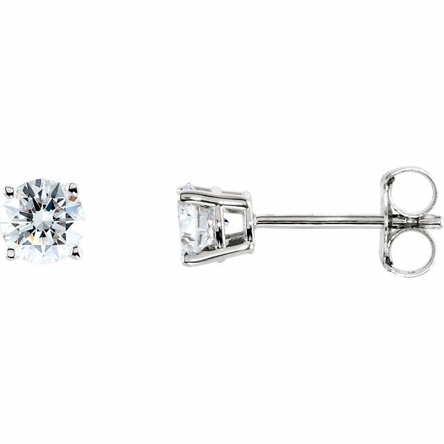 1 4 Ctw Diamond Stud Earrings In 14k White Gold Of 1only 2 Available