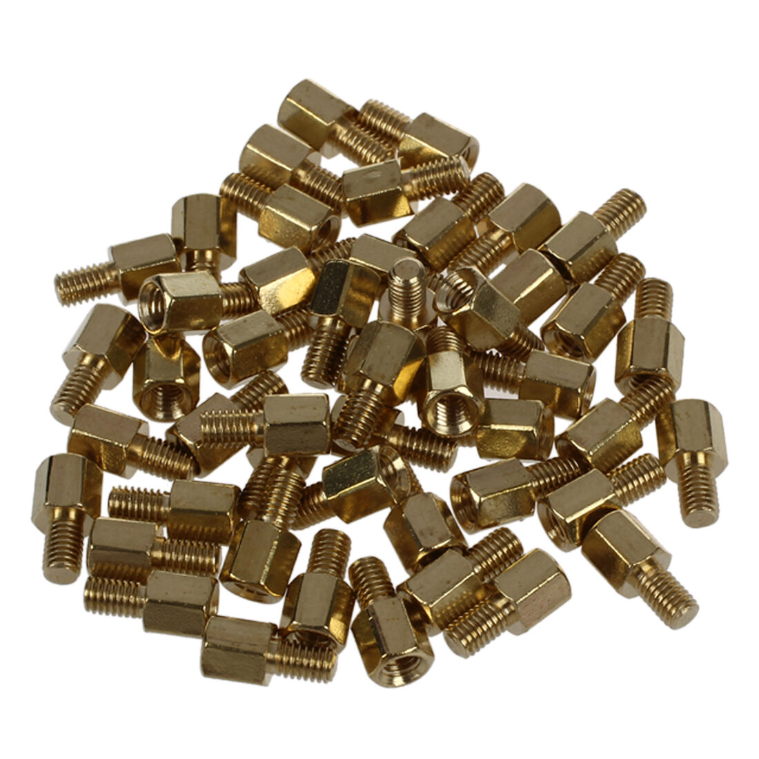 50 Pcs Brass Screw Pcb Standoffs Hexagonal Spacers Male X Female 5mm 120pcs M3 Copper Silver Pillars Standoff Circuit Board Nut 1 Of 4free Shipping