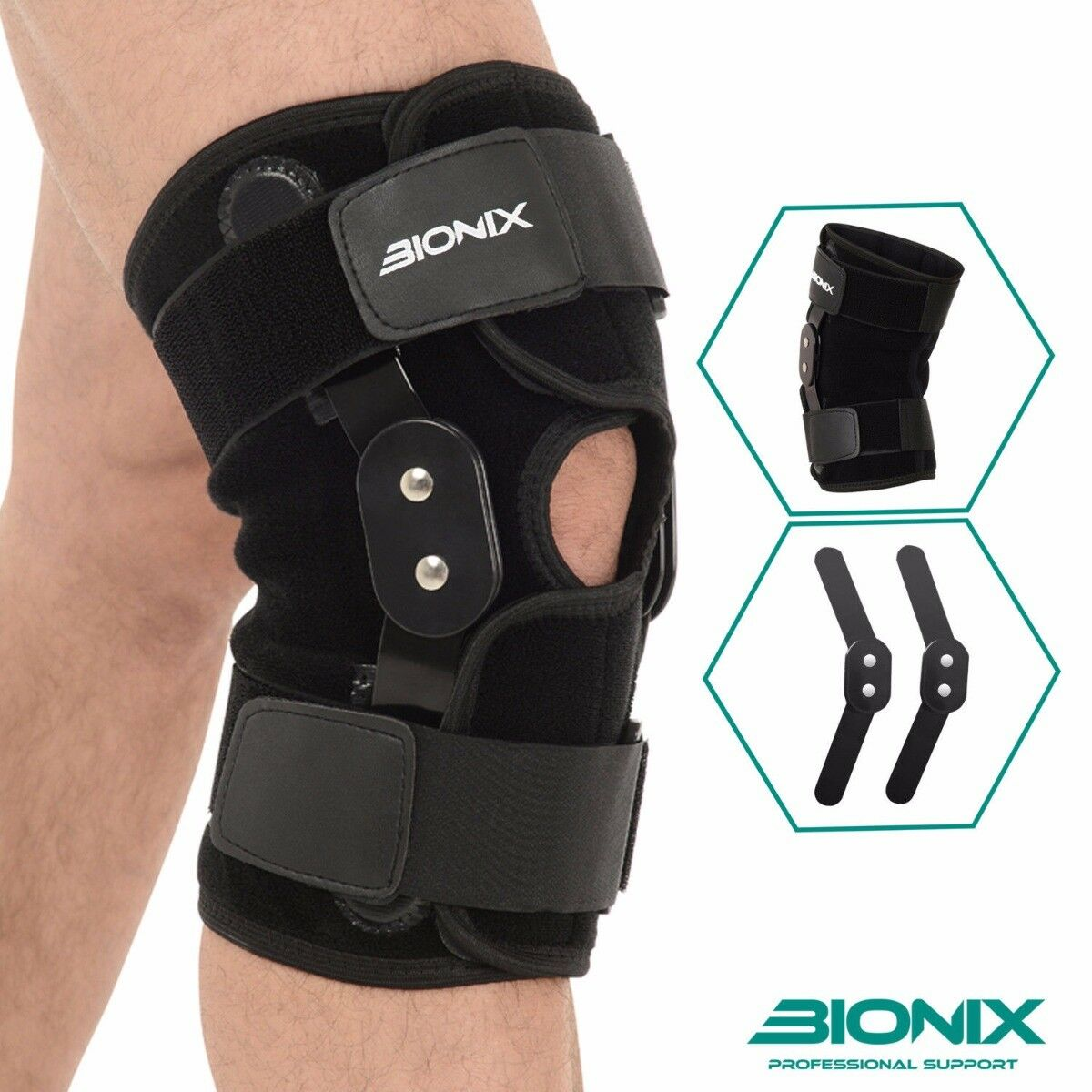 how to put on a patella knee brace