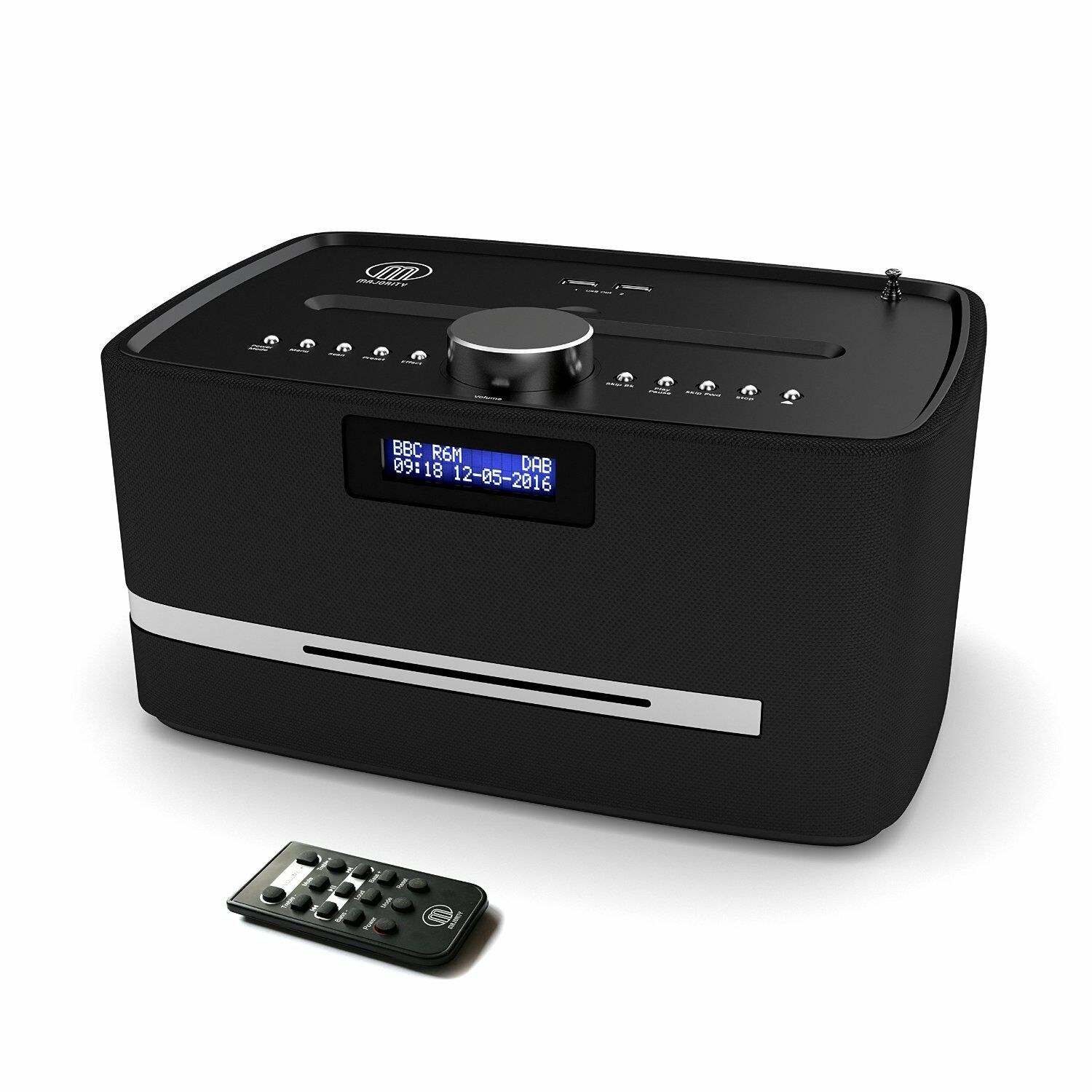 majority dab fm radio cd player alarm clock with bluetooth micro hifi system picclick uk. Black Bedroom Furniture Sets. Home Design Ideas