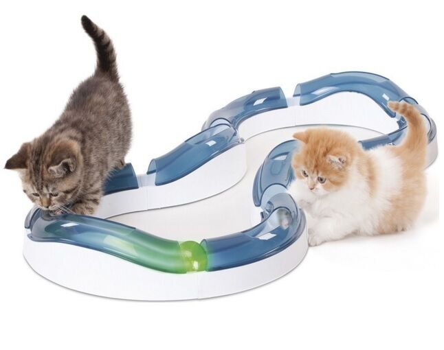 Cat Interactive Toy Catit Design Senses Super Roller Circuit Kitten Game Pet UK