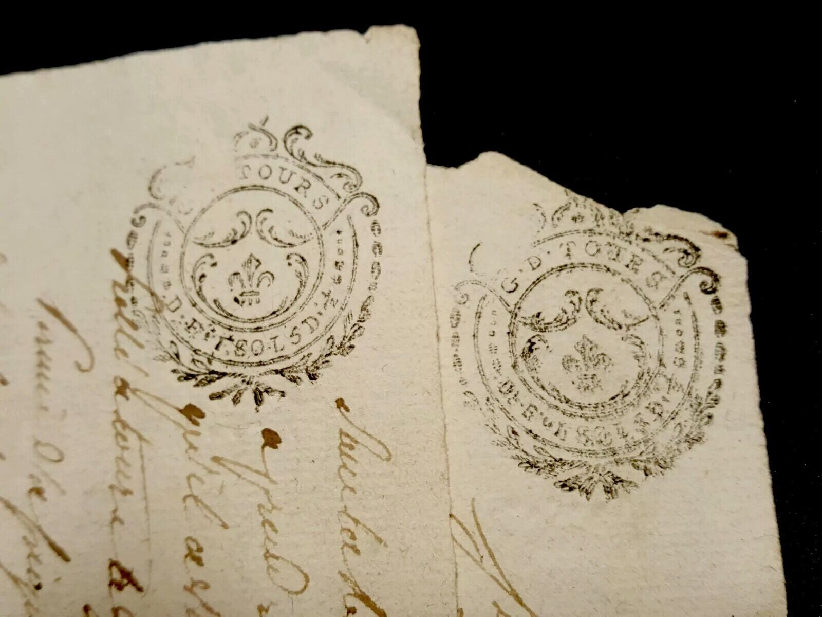 Lot Of Two Antique Documents   1790